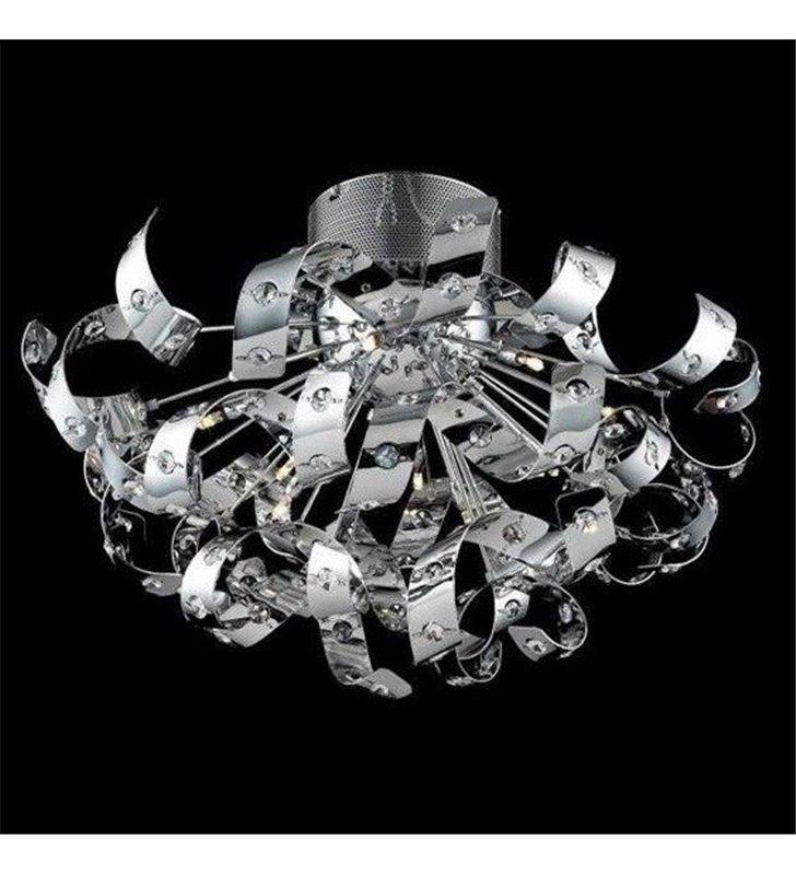 Lampa sufitowa Hair klosz metalowe wstążki zdobione kryształkami