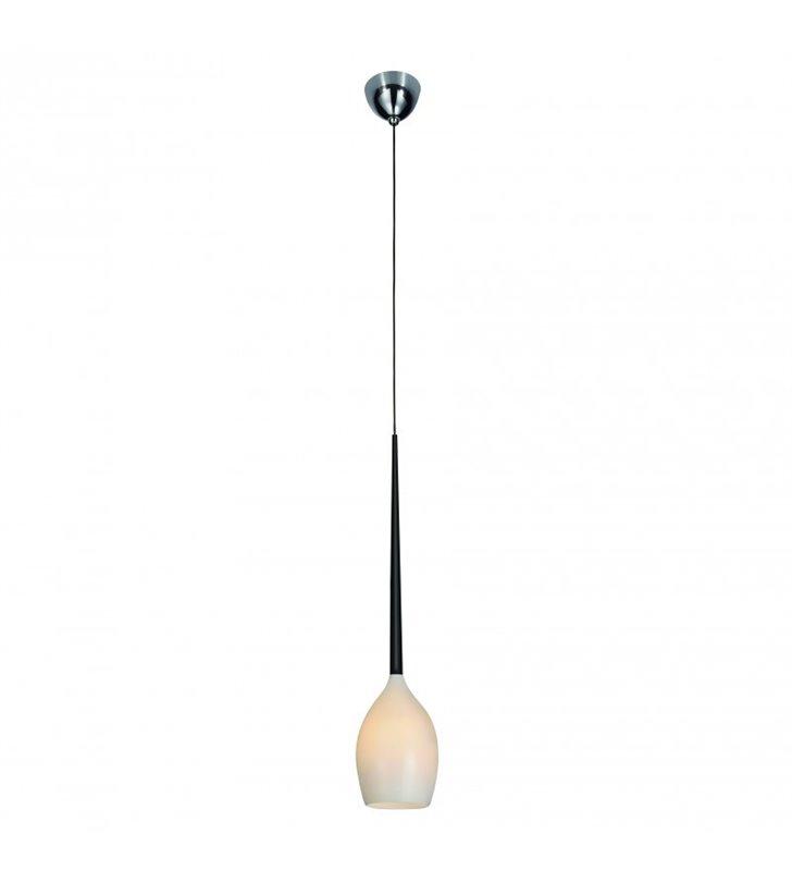 Lampa wisząca Izza pojedyncza nowoczesna biało czarna - DOSTĘPNA OD RĘKI
