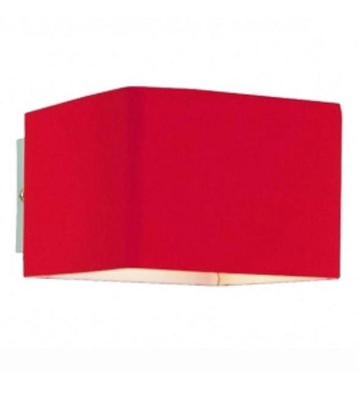 Mały szklany kinkiet Tulip w kolorze czerwonym