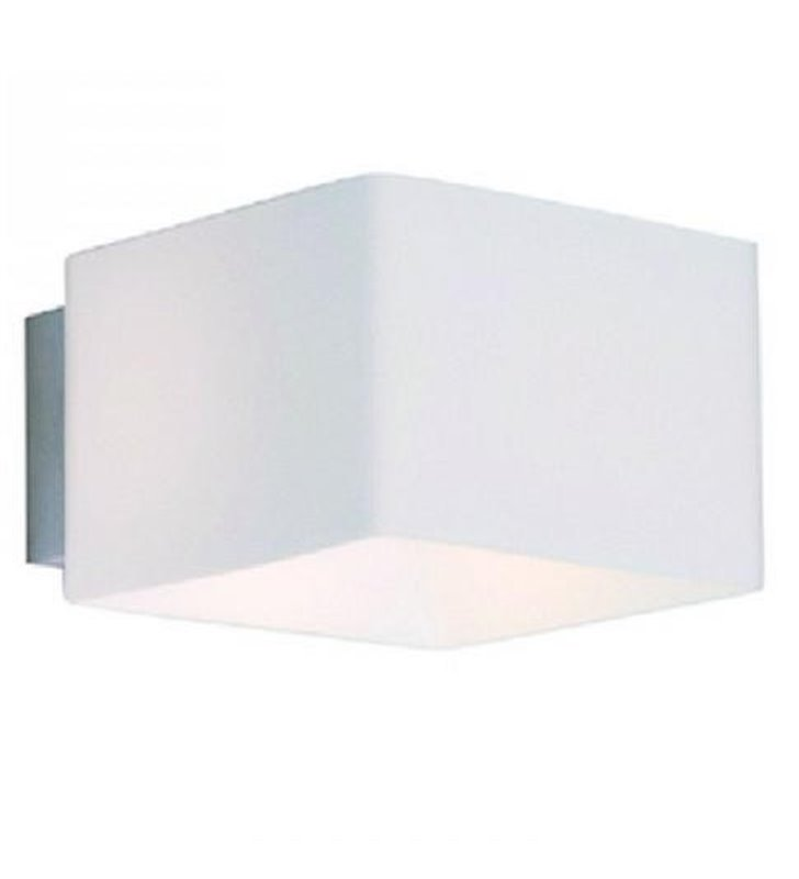 Kinkiet Tulip biały szklany nowoczesny minimalistyczny