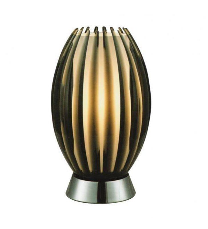 Lampa stołowa Elba brązowa nowoczesna