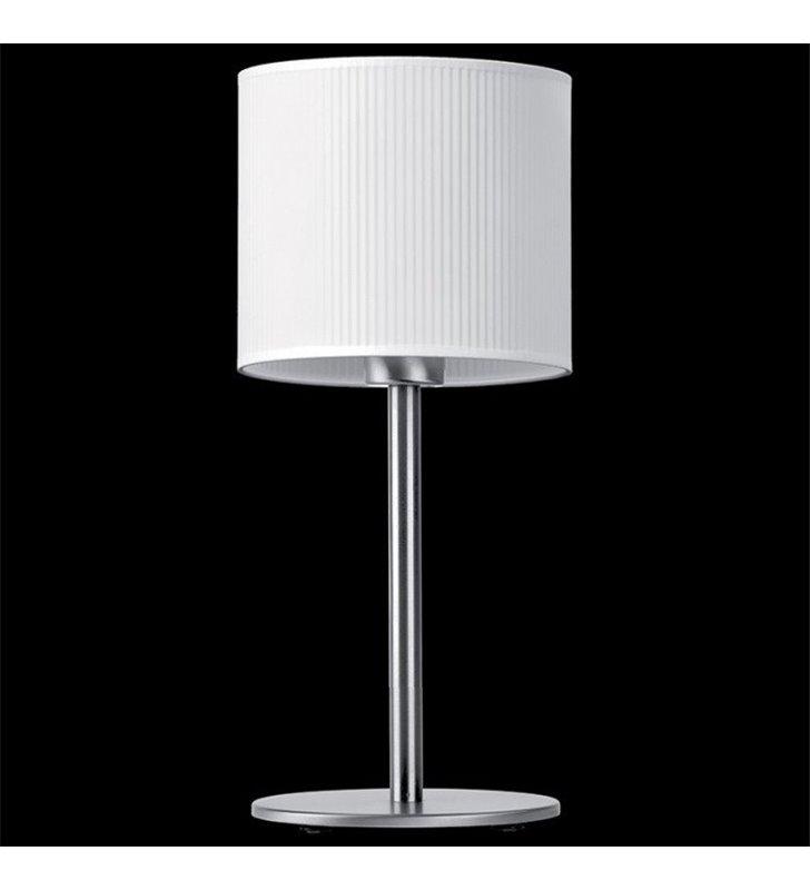 Lampa stołowa Rondo Plisa (K) biały abażur