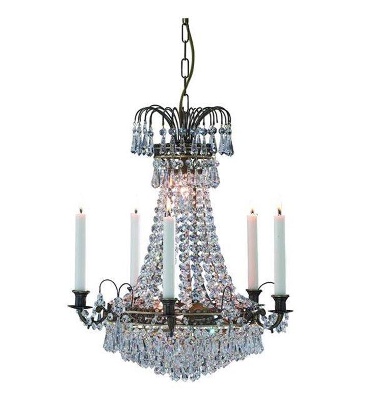 Elegancki klasyczny żyrandol z kryształkami Lacko