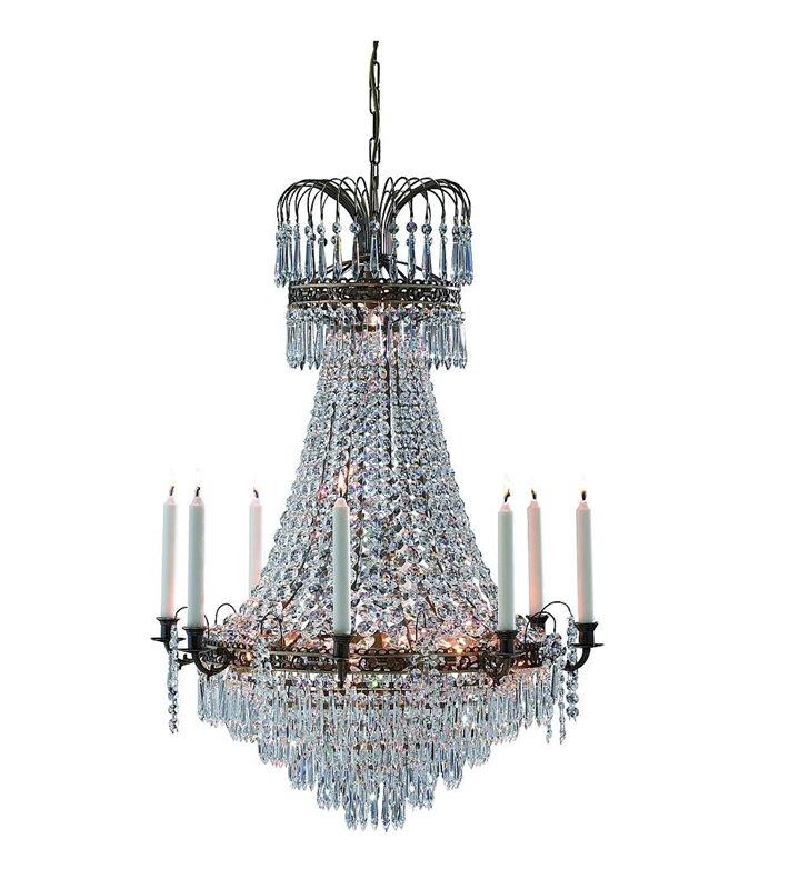 Żyrandol Lacko duży kryształowy ze świecami do sali weselnej