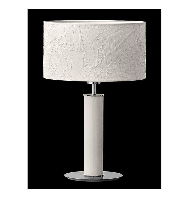 Lampa gabinetowa wysoka lampa stołowa Nodo Kolor (K) biała elegancka z dekoracyjnym abażurem