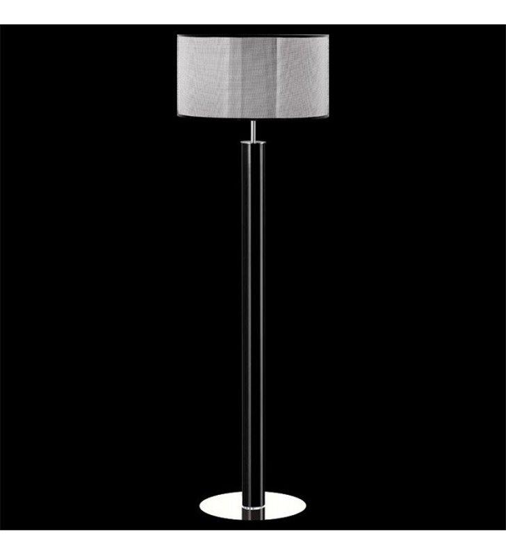 Lampa podłogowa Nodo Kolor (K) czarna podstawa z czarno srebrnym abażurem