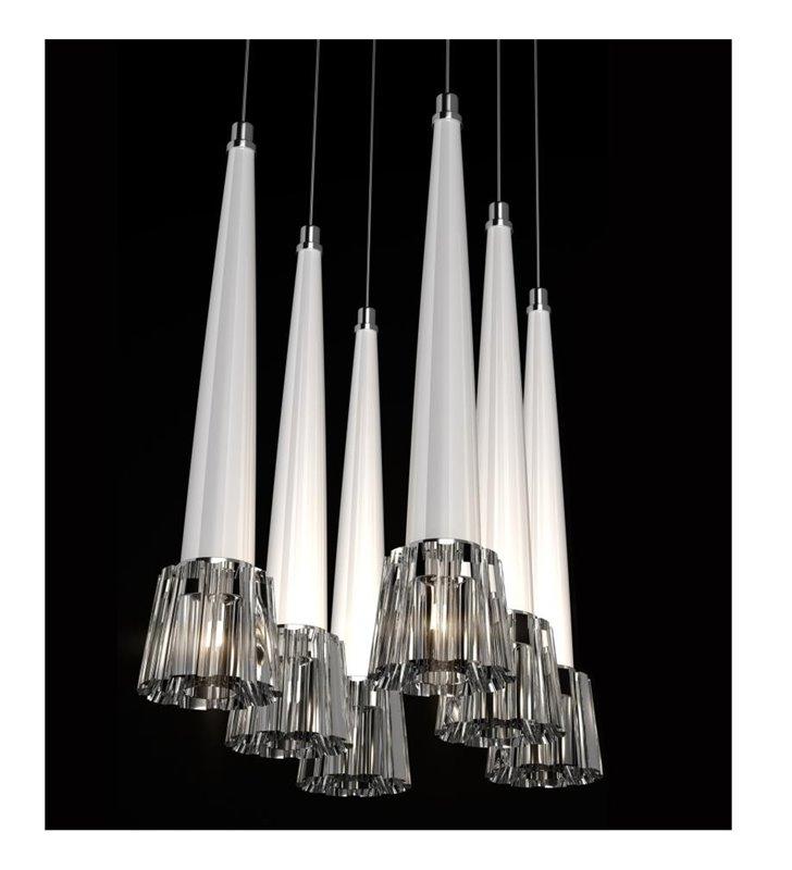 Lampa wisząca Drako White 6 punktowa dekoracyjna