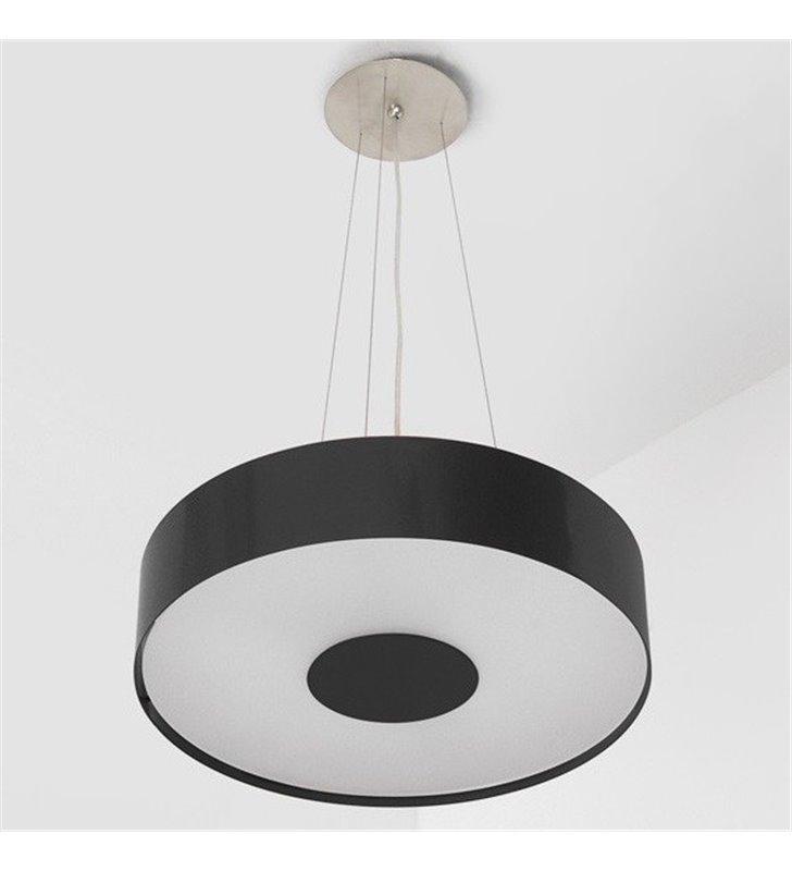 Lampa wisząca Carina 50cm czarna błyszcząca okrągła - DOSTĘPNA OD RĘKI