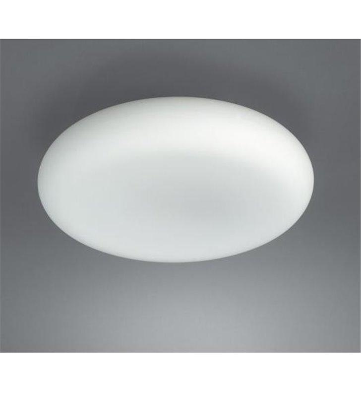 Plafon łazienkowy okrągły Mist białe szkło