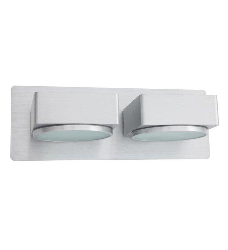 Lampa łazienkowa Missouri podwójny kinkiet w kolorze aluminium