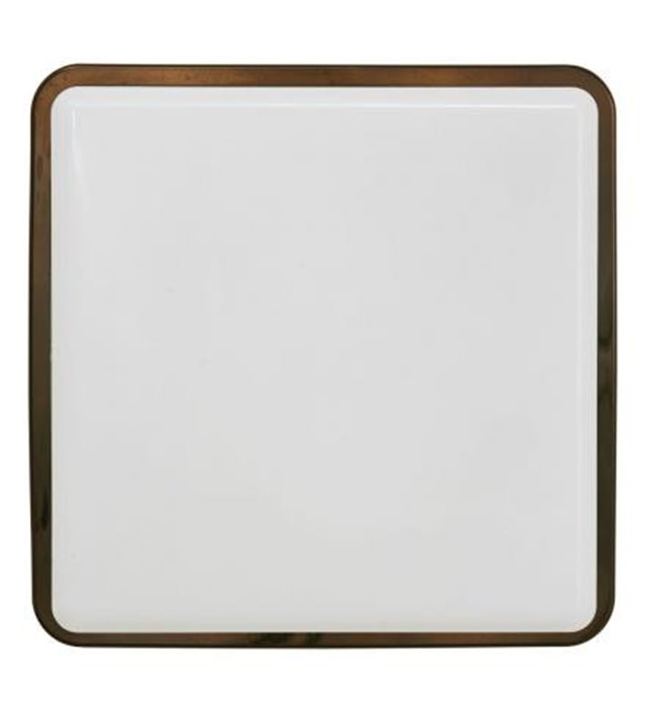 Plafon łazienkowy Tahoe II brązowy połysk 2xE27 IP65 kwadratowy
