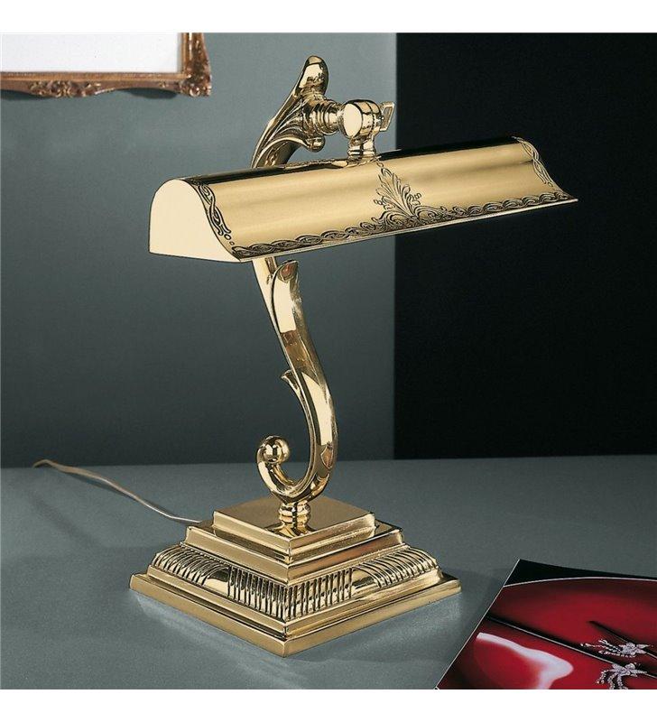 Złota lampa gabinetowa Adrano