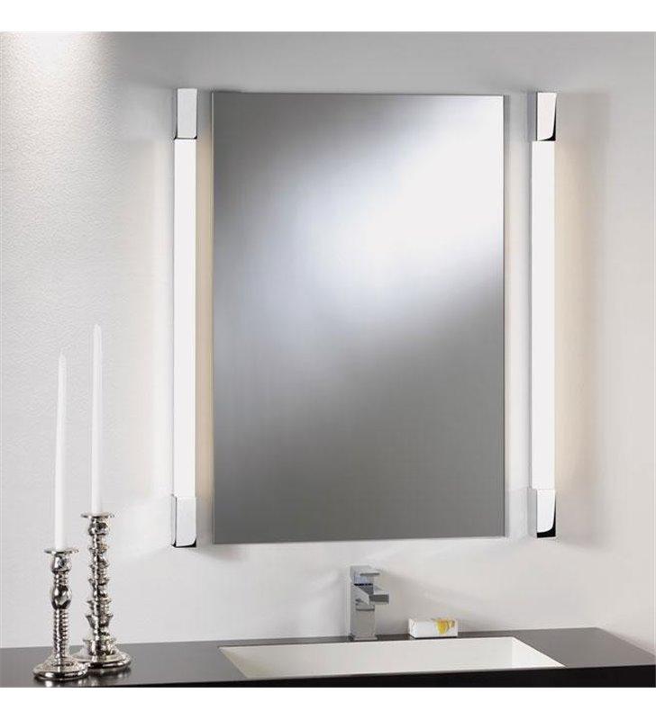 Kinkiet łazienkowy Romano 600 podłużny kanciasty chrom
