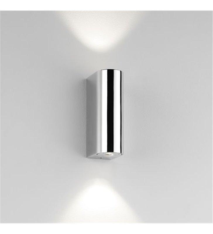 Metalowa lampa łazienkowa Alba LED chrom światło góra dół