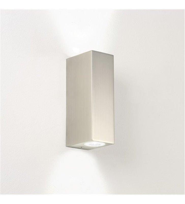 Nowoczesna mała lampa łazienkowa Bloc nikiel mat