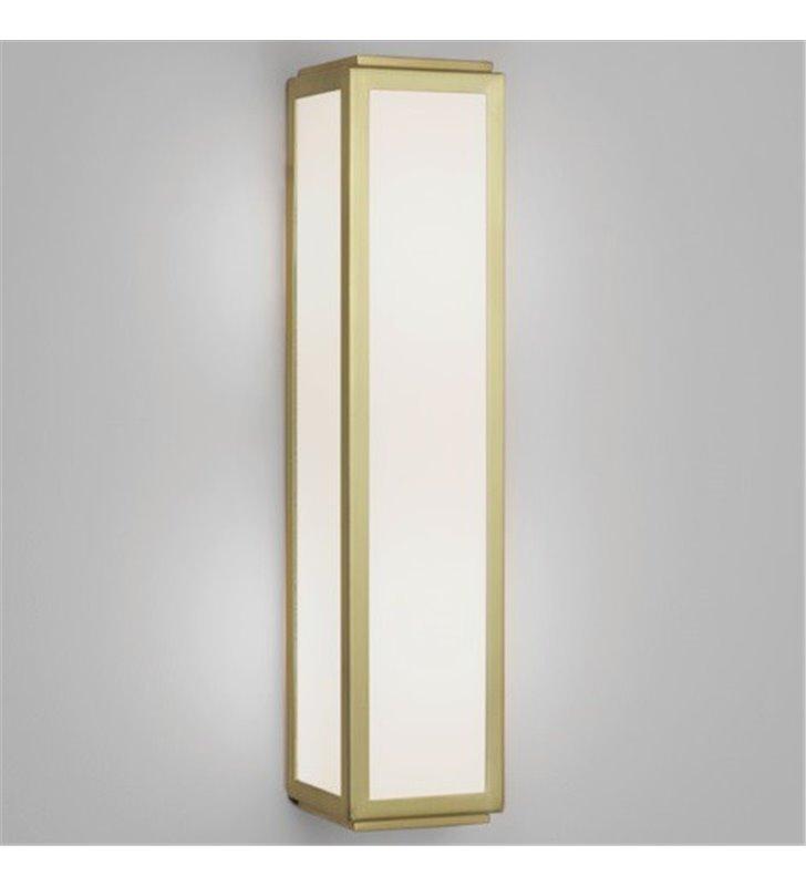 Złoty kinkiet łazienkowy prostokątny Mashiko 36cm