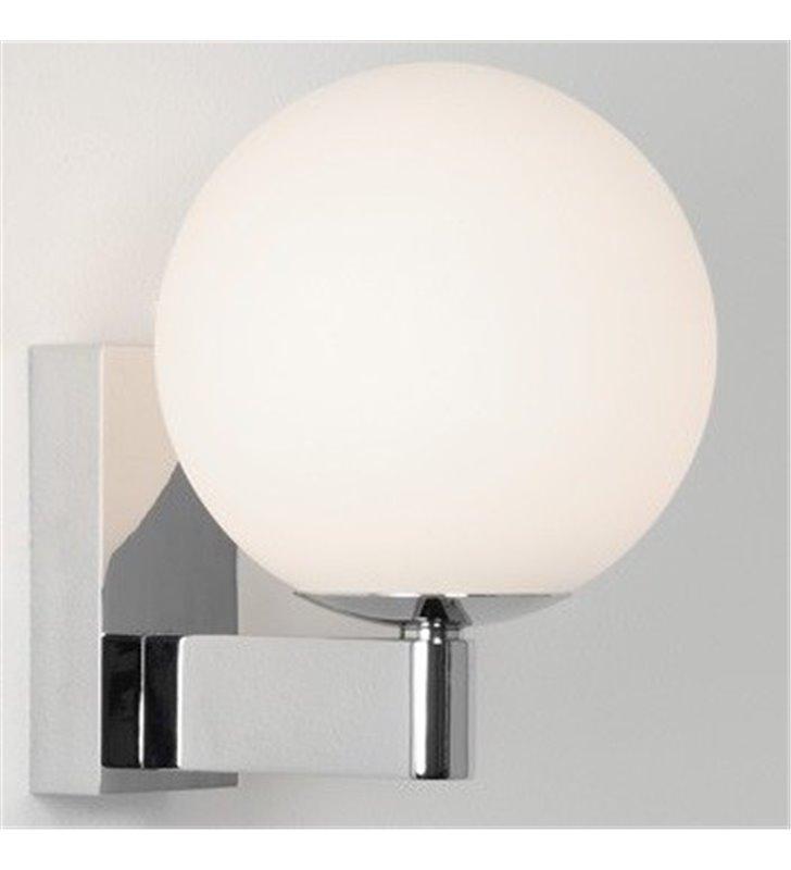 Ścienna lampa łazienkowa Sagara LED chrom polerowany okrągły klosz kula IP44