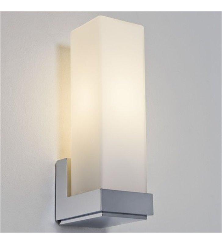 Lampa łazienkowa do lustra Taketa chrom polerowany szklany klosz