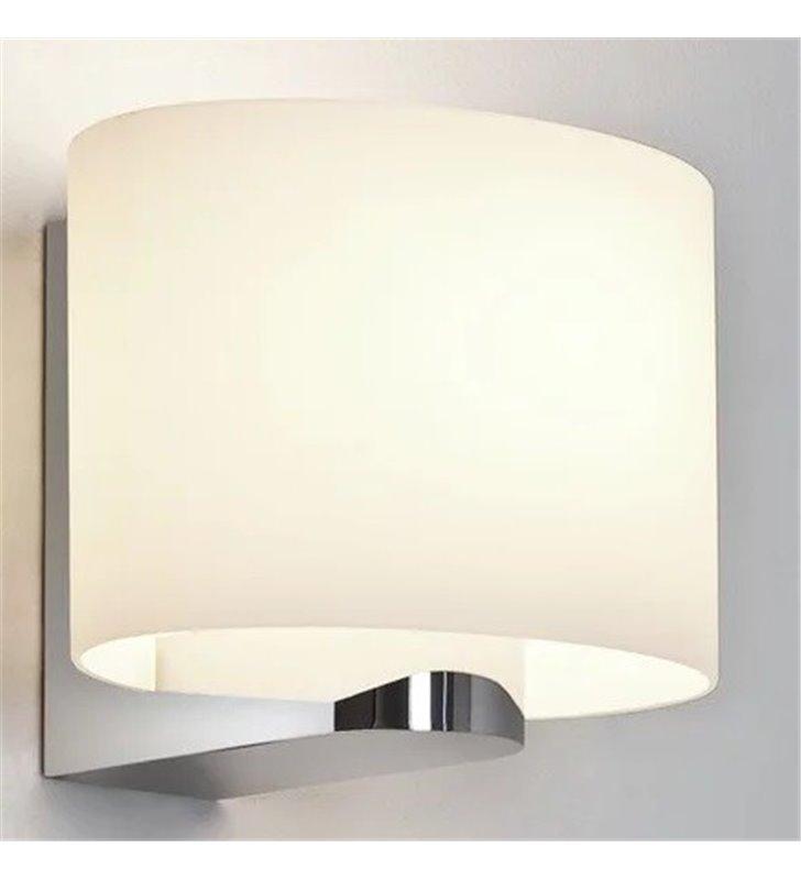 Kinkiet łazienkowy Siena Oval chrom polerowany szklany klosz wysoka jakość