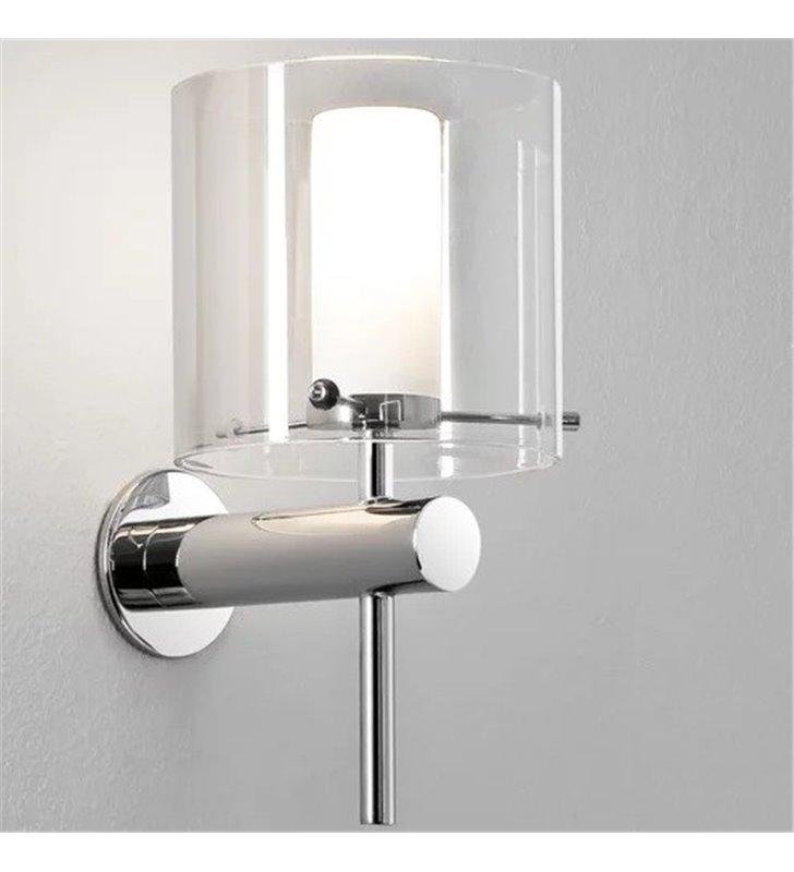 Lampa łazienkowa do lustra Arezzo podwójny szklany klosz możliwość montażu na lustrze