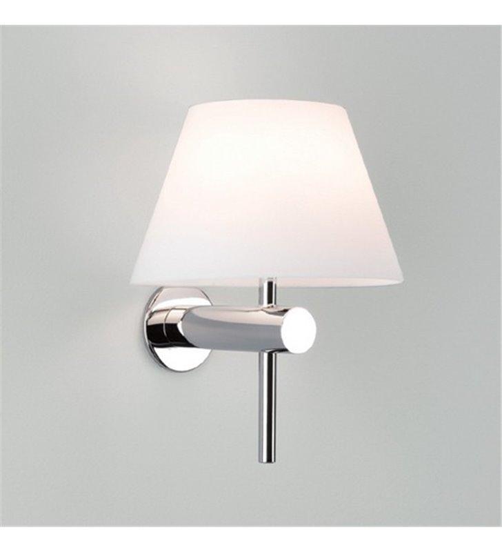 Kinkiet łazienkowy Roma chrom szklany klosz wysoka jakość IP44