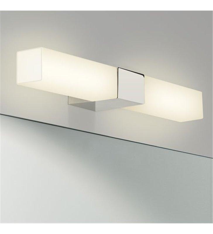 Lampa łazienkowa do lustra Padova Square prostokątne klosze ze szkła