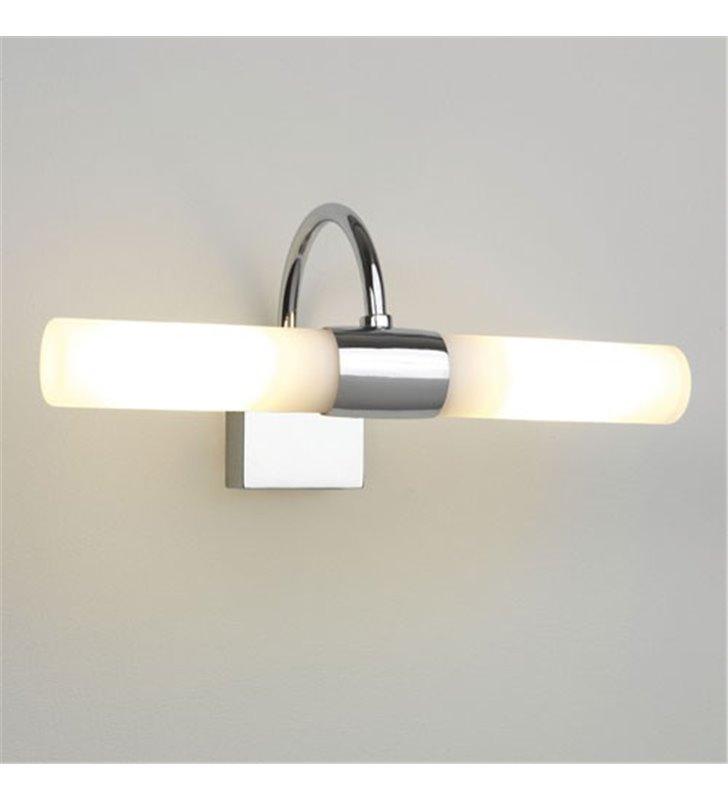 Lampa łazienkowa Dayton nad lustro chromowana z białymi kloszami