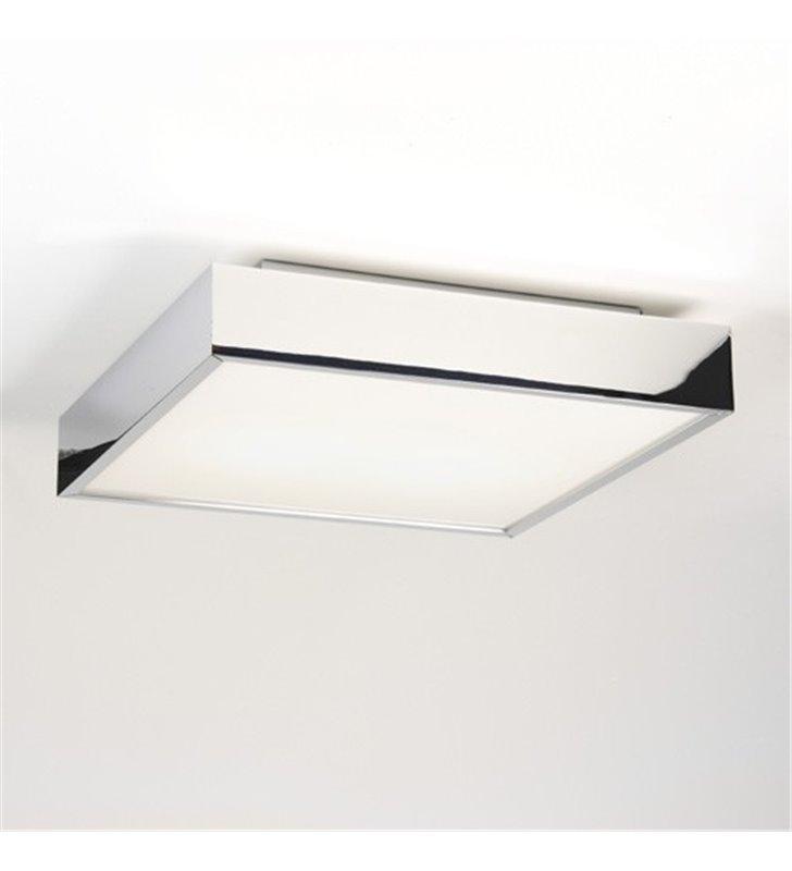 Plafon łazienkowy Taketa 30cm kwadratowy wysokiej jakości wykończenie chrom - DOSTĘPNA OD RĘKI