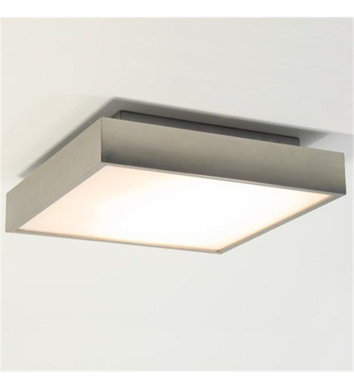 Plafon łazienkowy Taketa LED 30cm kwadratowy IP44 nikiel mat
