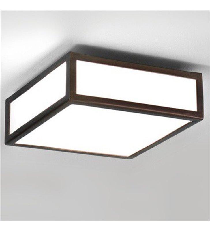 Mały brązowy plafon łazienkowy Mashiko 20cm kwadratowy