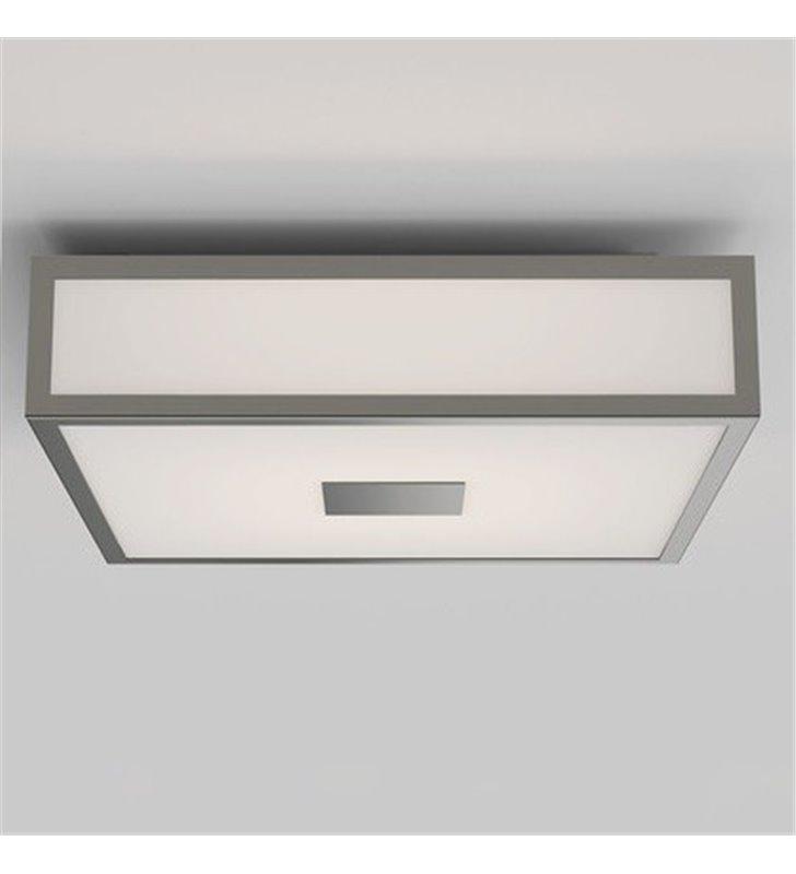 Plafon łazienkowy Mashiko LED kwadratowy 30cm nikiel mat