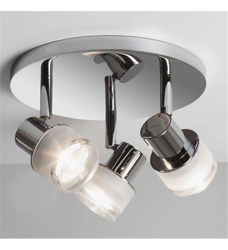 Lampa sufitowa do łazienki Tokai 3 szklane klosze żarówki IP44