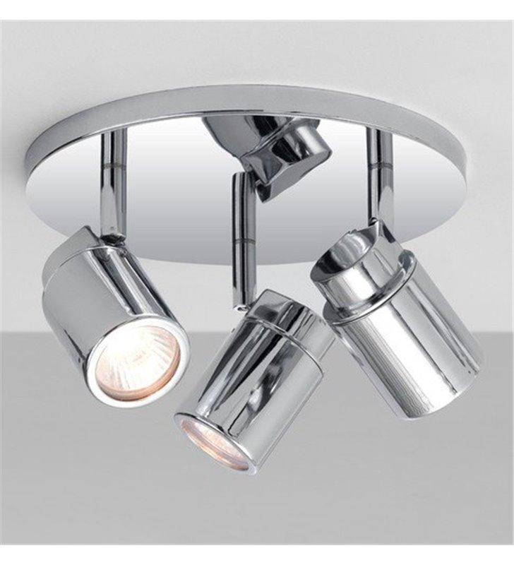 Lampa sufitowa Como potrójna chrom do łazienki IP44 3 żarówki