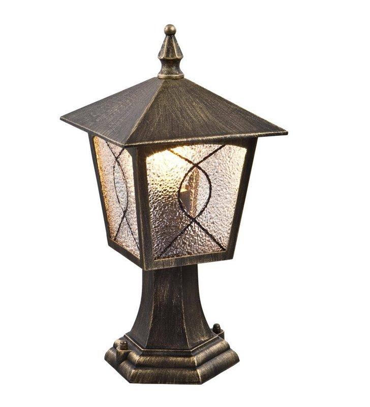 Lampa ogrodowa czarno złota Lazio