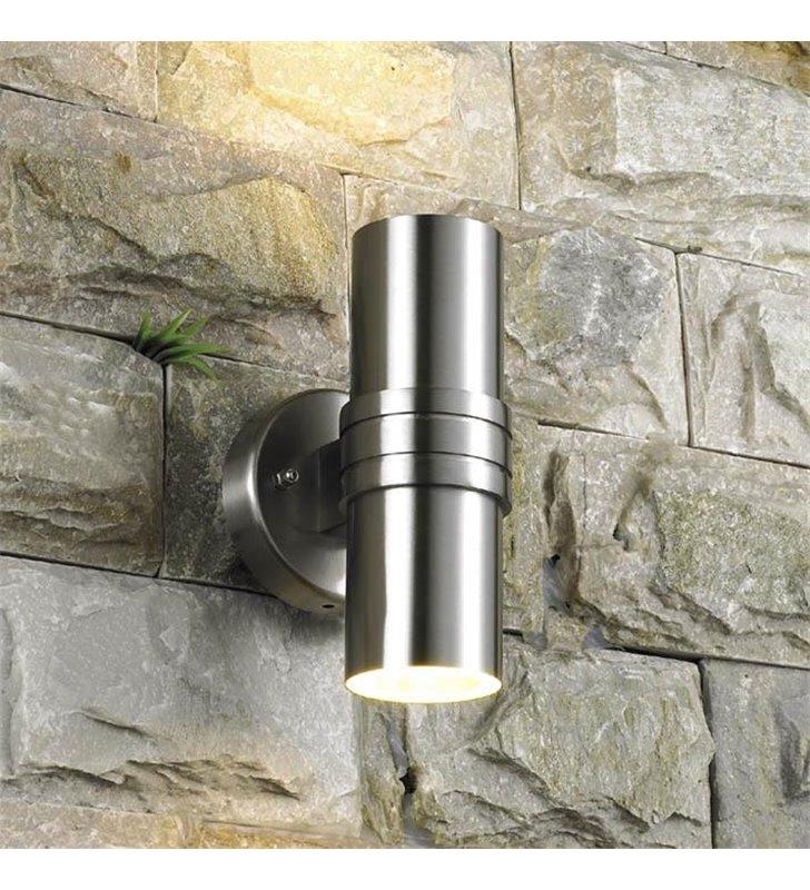 Lampa ogrodowa na ścianę kinkiet ogrodowy Tubular świeci góra dół