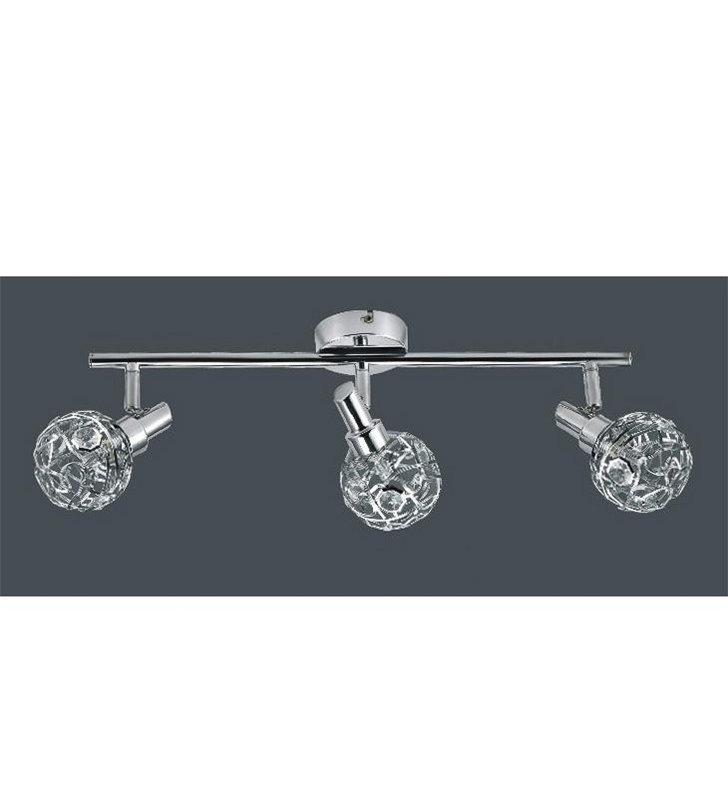 Lampa sufitowa potrójna Erazma metalowe kule - DOSTĘPNA OD RĘKI