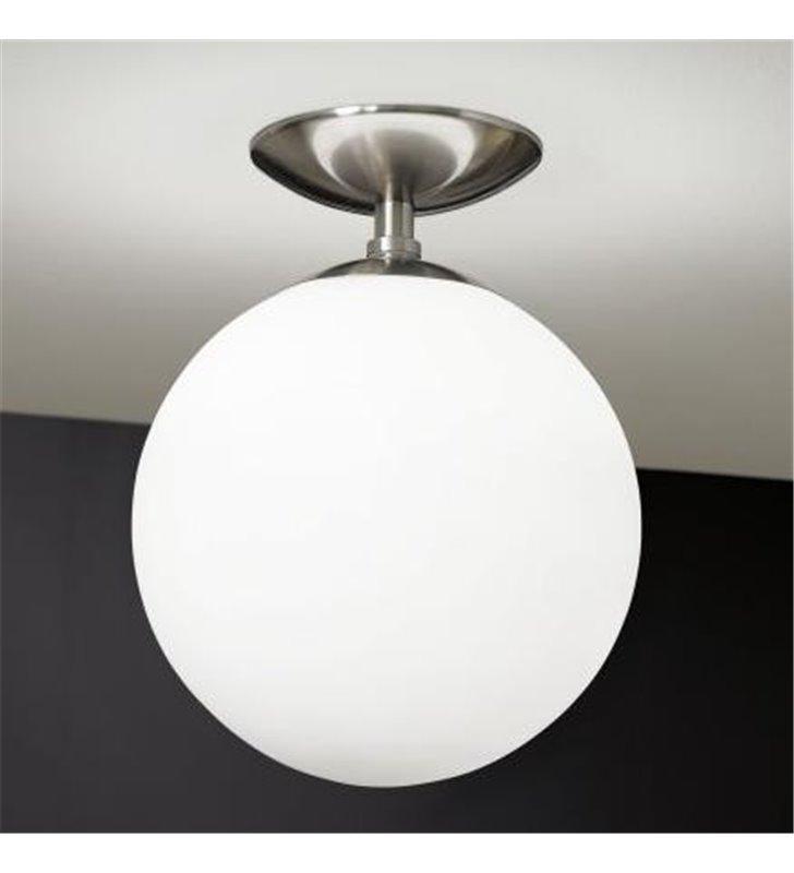 Lampa sufitowa Rondo szklana kula opal mat o średnicy 25cm