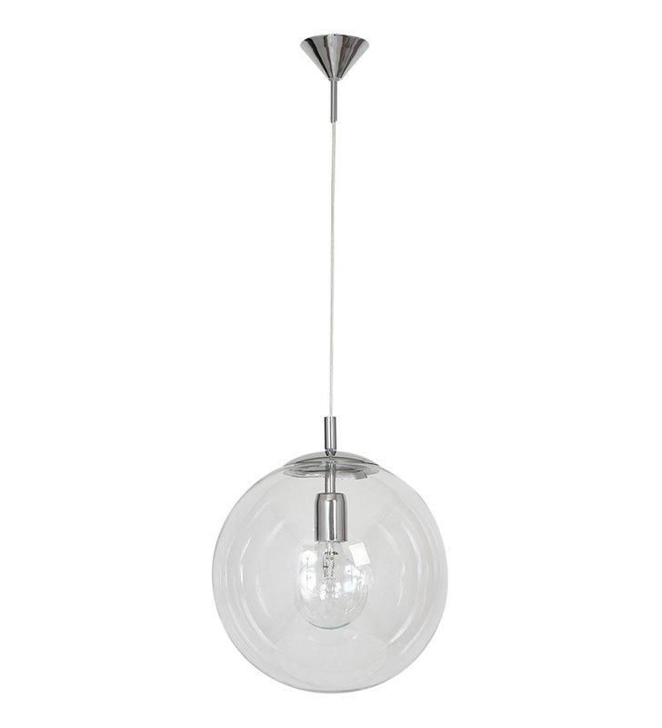 Lampa wisząca Globus bezbarwna 30cm szklana kula do kuchni salonu jadalni sypialni - OD RĘKI