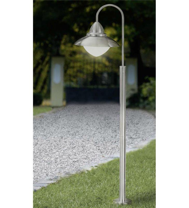 Stalowy słupek oświetleniowy do ogrodu Sidney wysokość 120cm klosz skierowany w dół