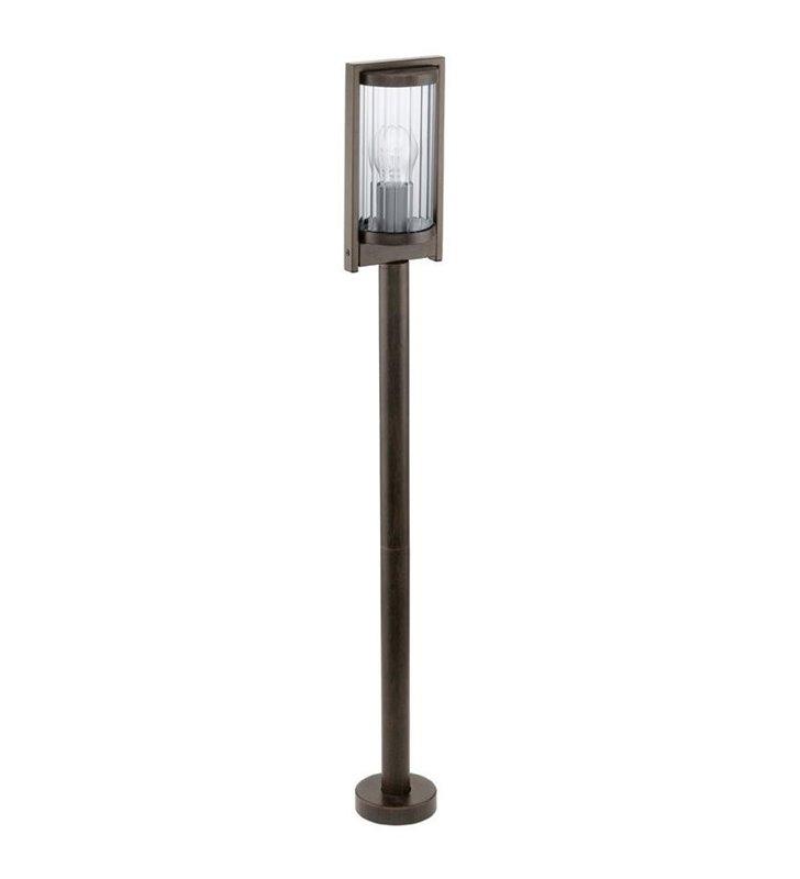 Lampa ogrodowa Bagaos metrowy brązowy słupek ogrodowy styl vintage - DOSTĘPNY OD RĘKI