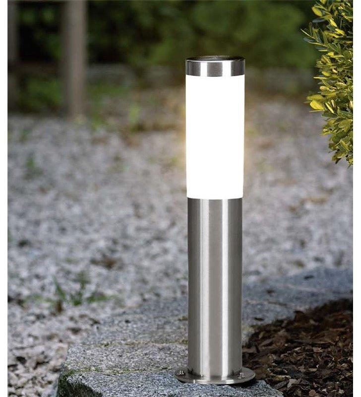 Słupek ogrodowy Helsinki stalowy nowoczesny niski tuba IP44