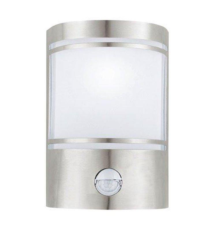 Lampa ścienna ogrodowa Cerno z czujnikiem ruchu stal - DOSTĘPNA OD RĘKI