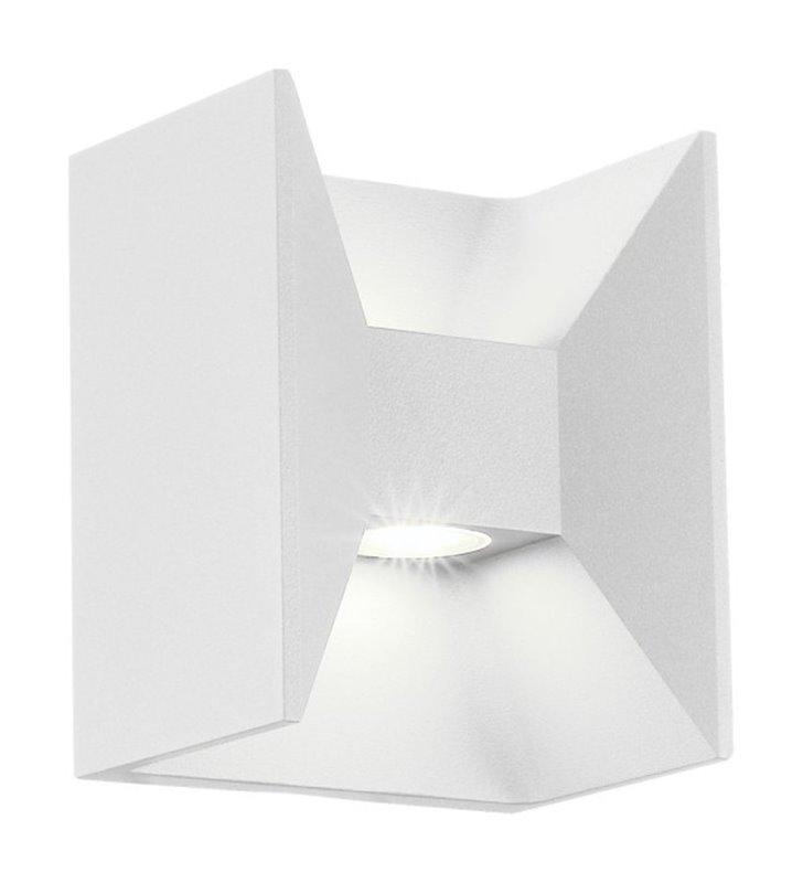 Lampa ogrodowa kinkiet Morino LED biała IP44 strumień światła góra dół