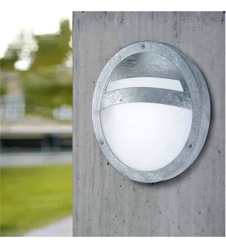 Lampa ogrodowa na ścianę okrągła Sevilla stal galwanizowana IP44