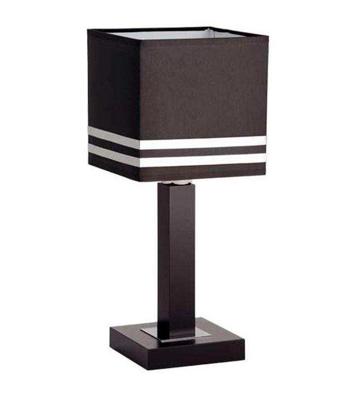 Brown lampa stołowa Brown brązowa drewniana podstawa - DOSTĘPNA OD RĘKI