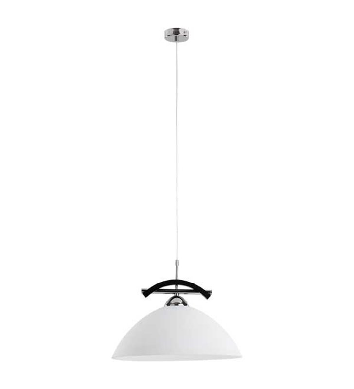 Lampa wisząca Fuji pojedyncza biały szklany klosz do kuchni jadalni salonu nad stół - DOSTĘPNA OD RĘKI