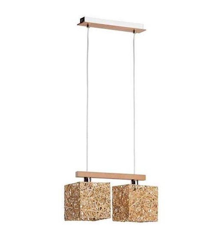 Podwójna lampa wisząca Abaka naturalna - DOSTĘPNA OD RĘKI
