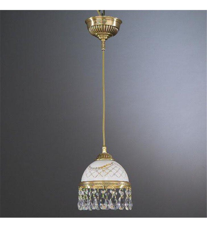Pojedyńcza lampa wisząca Topaz Mosiądz