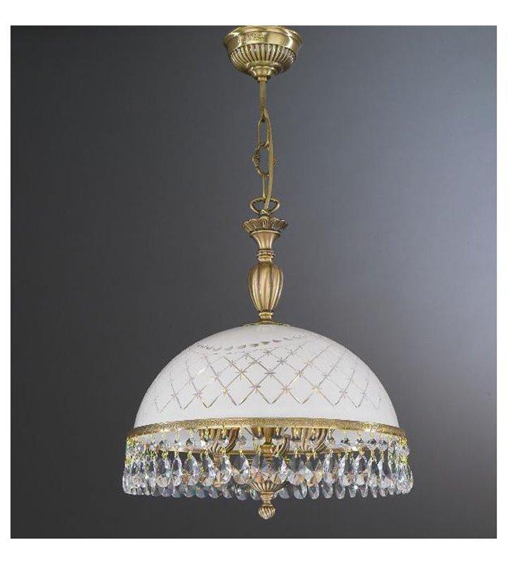 Lampa wisząca z kryształkami Topaz Mosiądz