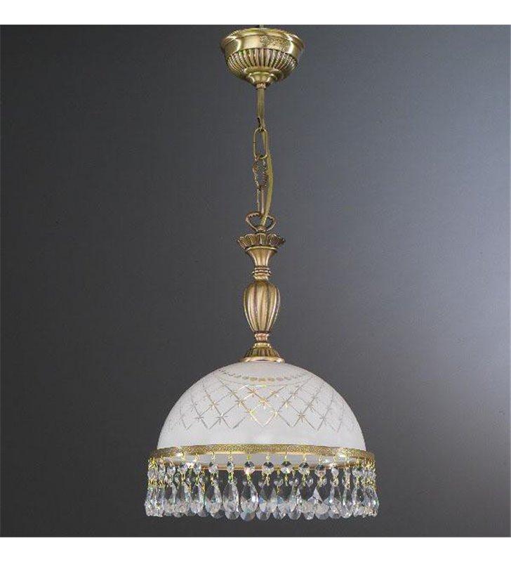 Ekskluzywna lampa wisząca z kryształami Topaz Mosiądz